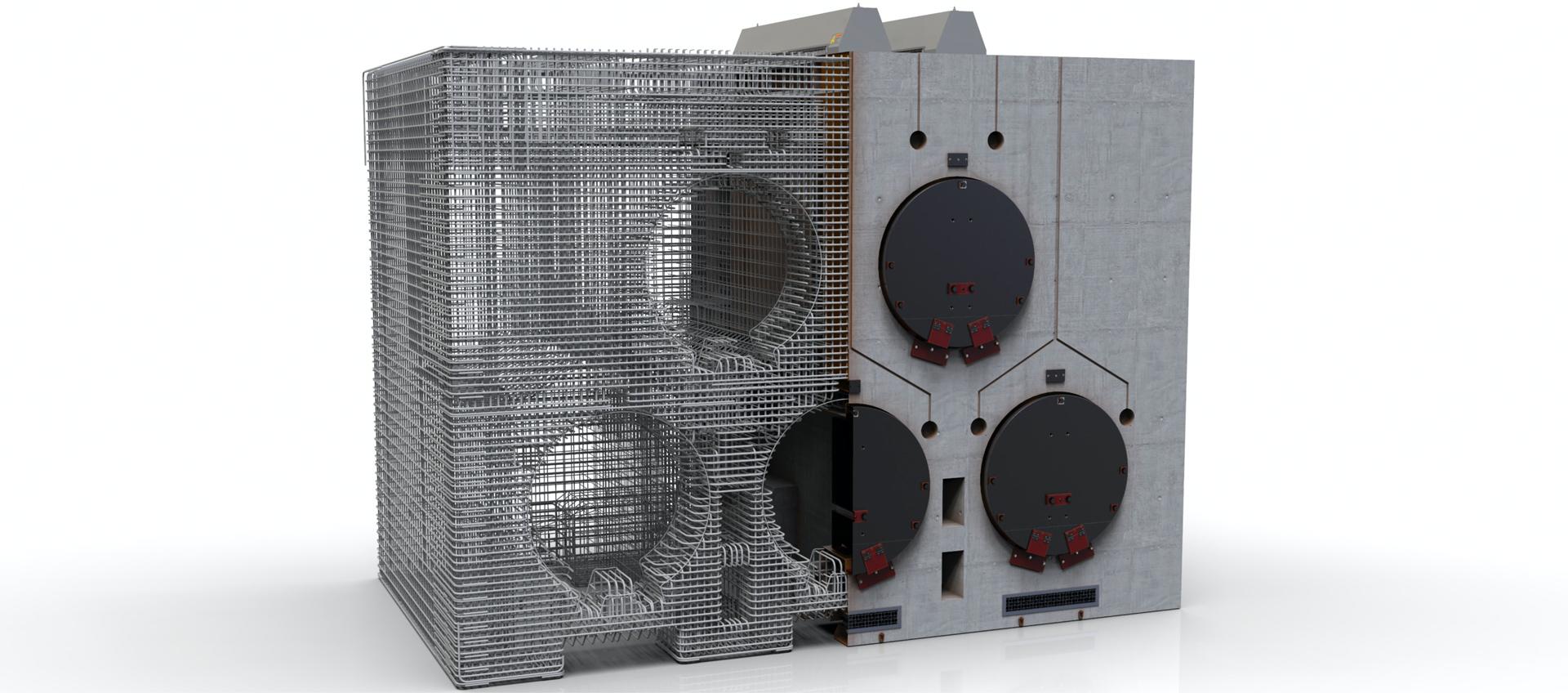 Sistema de almacenamiento horizontal para combustible nuclear gastado